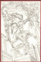 Spider-man, Venom, and Carnage Pencil Commission with Full Background - 2010 Signed Comic Art