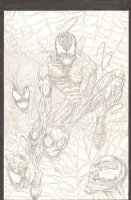 Carnage with Spider-Man's Head Pencil Commission - Venom - 2007 Signed Comic Art