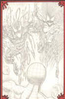 Carnage and Scream vs. Spider-Man Pencil Commission - 2009 Signed Comic Art