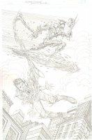 Surfer Carnage vs. Spider-Man ASM #39 Homage Pencil Commission - Signed Comic Art