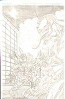 Venom Vs Carnage - Great Pencil Commission - 2007 Signed Comic Art