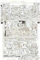 Sonic the Hedgehog #237 p.7 - Sonic, Amy Rose, Tails, & T-pup - 2012 Signed Comic Art