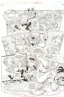 Sonic the Hedgehog #238 p.11 - Sonic and Queen Hathor Action vs. Razorklaw -  2012 Signed Comic Art