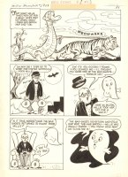 Millie the Lovable Monster #2 p.28 - LA - Millie App, Ghost, & Tiger  - 1962 Comic Art