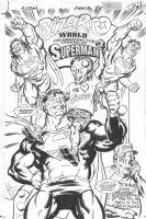 Action Annual '96 p.38 - Bizarro World Splash - Signed Comic Art