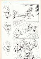 Deadpool Corps #6 p.13 - Deadpool, Kidpool, and Dogpool Stabbed - 2010  Comic Art