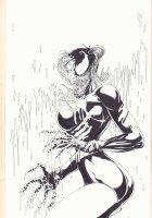 Harley Quinn / Venom Amalgam Limited Edition Self Published Cover Artwork - Signed Comic Art