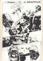Avengers #15 p.6 - Spider-Woman, Ms. Marvel, and Protector vs. Hulk Action - 2011 Comic Art