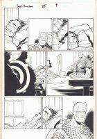 Captain America #25 p.9 - Cap Visiting Hospital - 2004  Comic Art