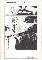 Dark Reign: Sinister Spider-Man #1 p.16 - Norman Osborn with Venom - 2009 Signed Comic Art