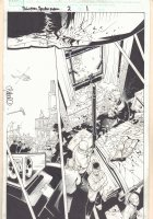 Dark Reign: Sinister Spider-Man #2 p.1 - Murder Investigation - 2009 Signed Comic Art