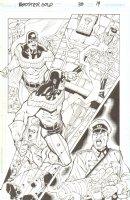 Booster Gold #38 pg 19 - vs Nazis  - Signed  Comic Art