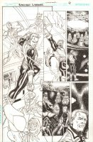 Green Lantern: Emerald Warriors #12 p.4 - Guy Gardner and Guardians of the Universe - 2011 Comic Art