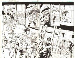 The Last Days of Animal Man DPS - Power Girl, Superman, Starfire, Flash, Nightwing, & Red Tornado in NYC - 2009 Comic Art