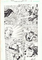 Booster Gold #33 p.3 - Booster Gold Action - 2010 Signed Comic Art