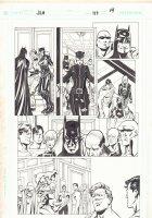 JLA #119 p.14 - Batman, Catwoman, Alfred, Martian Manhunter, Black Canary, Superman, Green Lantern, Flash, Aquaman, Despero, and Red Tornado - 2005 Signed Comic Art