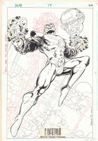 Justice League Quarterly #17 p.64 - Firestorm Pin-Up - 1994 Signed Comic Art