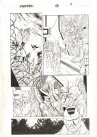 Hawkman #48 p.11 - Hawkman, Hawkgirl, Adam Strange, & Soldiers - 2006 Signed Comic Art