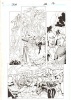 JLA #118 p.12 - Aquaman & Martian Manhunter vs. Despero - 2005 Signed Comic Art