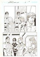 Last Days of Animal Man #3 p.3 - Superman, Nightwing, Power Girl, Flash, & Starfire - 2009 Signed Comic Art