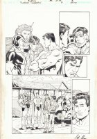 Superman Confidential #8 p.13 - Superman and the Forever People - 2007 Signed  Comic Art
