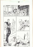 The Order #2 (14) p.21 - Silver Surfer and Namor the Sub-Mariner - 2002 Signed Comic Art