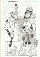 The Last Days of Animal Man #4 p.9 - Starfire vs. Mirror Master's Daughter - 2009 Signed Comic Art
