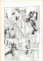The Order #2 (14) p.11 - Nighthawk and Hellcat - 2002 Signed Comic Art