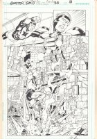 Booster Gold #38 p.18 - Booster Gold and General Glory vs. Doctor Nishtikeit - 2011 Signed Comic Art
