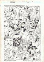 Hawkman #47 p.10 - Battle Melee - 2006 Signed Comic Art