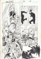Hawkman #47 p.14 - Hawkman vs. Golden Eagle - 2006 Signed Comic Art