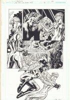 The Last Days of Animal Man #2 p.20 - Animal Man vs. Mirror Master's Daughter - 2009 Signed Comic Art