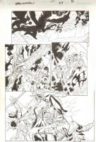 Hawkman #47 pg 11 - All Action Hawkman Hawkgirl Action Page  Comic Art