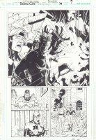 Booster Gold #38 p.7 - Exlopsion Splash - 2011 Signed Comic Art