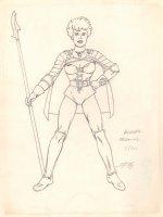 Conan the Adventurer Model Sheet - Jasmine Revised - 2/20 Signed Comic Art