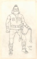 Conan the Adventurer Model Sheet - Zingaran Soldier #1 - Signed Comic Art