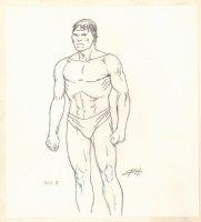 Conan the Adventurer Model Sheet - Caveman Pict II - Signed Comic Art