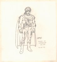 Conan the Adventurer Model Sheet - Misha as Werewolf 100-04 - 3/25/1992 Signed Comic Art