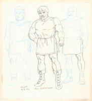 Conan the Adventurer Model Sheet - 3 Big Burly Men - 1992 Signed Comic Art