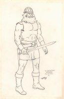 Conan the Adventurer Model Sheet - Zingaran Dressed as Guard #1 - Signed Comic Art