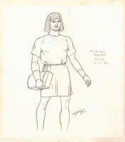 Conan the Adventurer Model Sheet - Stygian Trader - 1992 Signed Comic Art