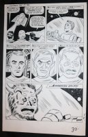 Journey into Mystery #95 p.5 - LA - Stan Lee Story - 'Save Me From the Lizard Men!' End Page - 1963 Comic Art