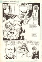 Adventures of Superman Annual #2 p.31 - Lex Luthor, Dox, and Superman Splash - 1990 Signed Comic Art