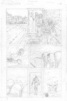 Skull & Bones #3 p.10 - Cool sauna entrance in costume - signed  Comic Art