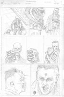 Skull & Bones #3 p.13 - In costume headshot kill! - signed  Comic Art