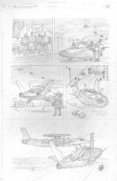 Skull & Bones #3 p.26 - Cool Aircraft - Signed Comic Art