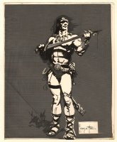 Conan the Barbarian Production Used STAT for Portfolio Piece Comic Art