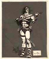Conan the Barbarian Production Used STAT for Portfolio Piece Comic Art