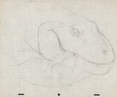 Fire and Ice Dinosaur Eating Caveman Pencil Piece