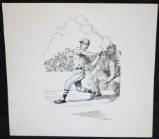 Baseball Art p.2 - At Bat Comic Art